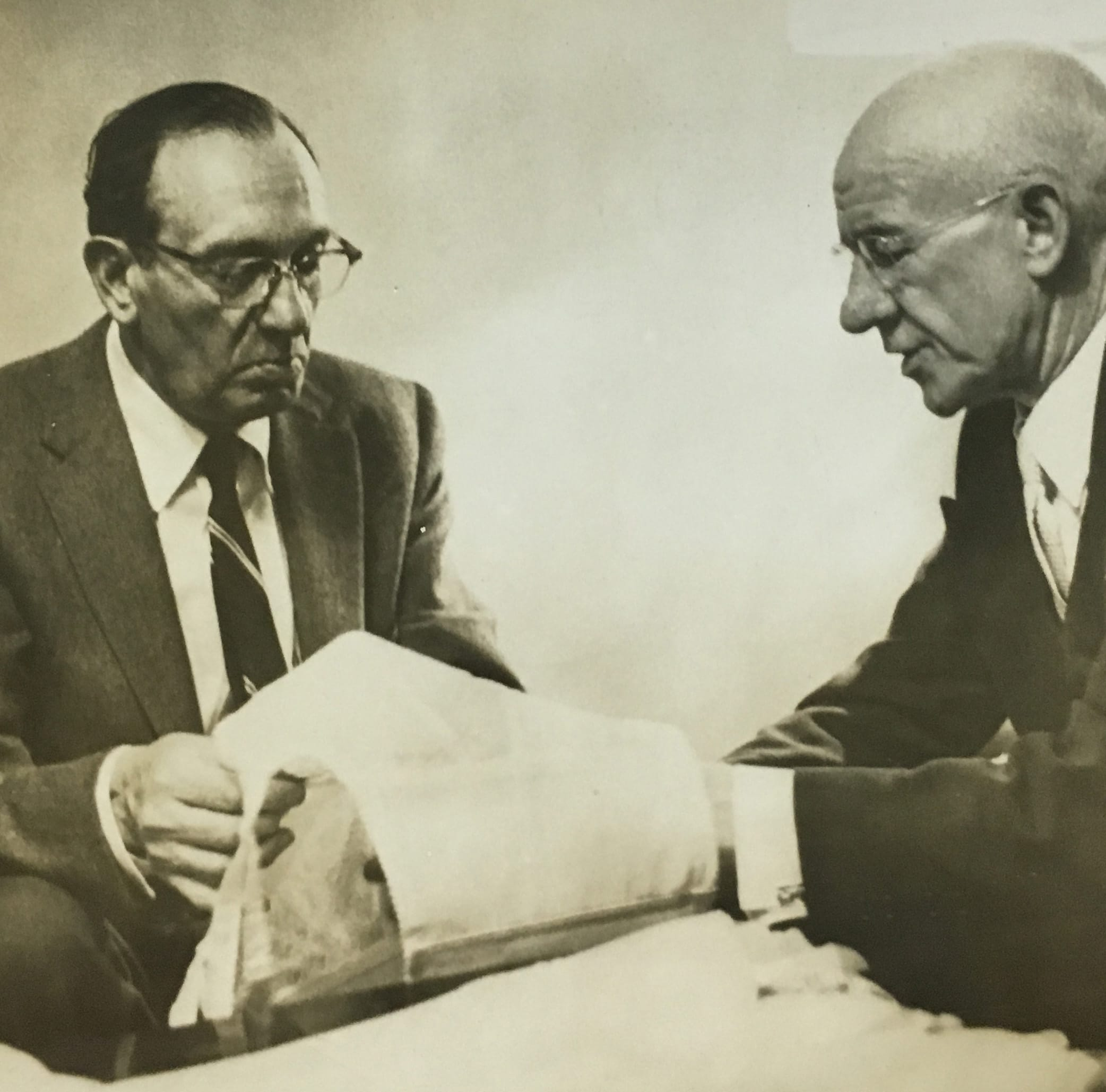 Irving with one of his salesman, 1951