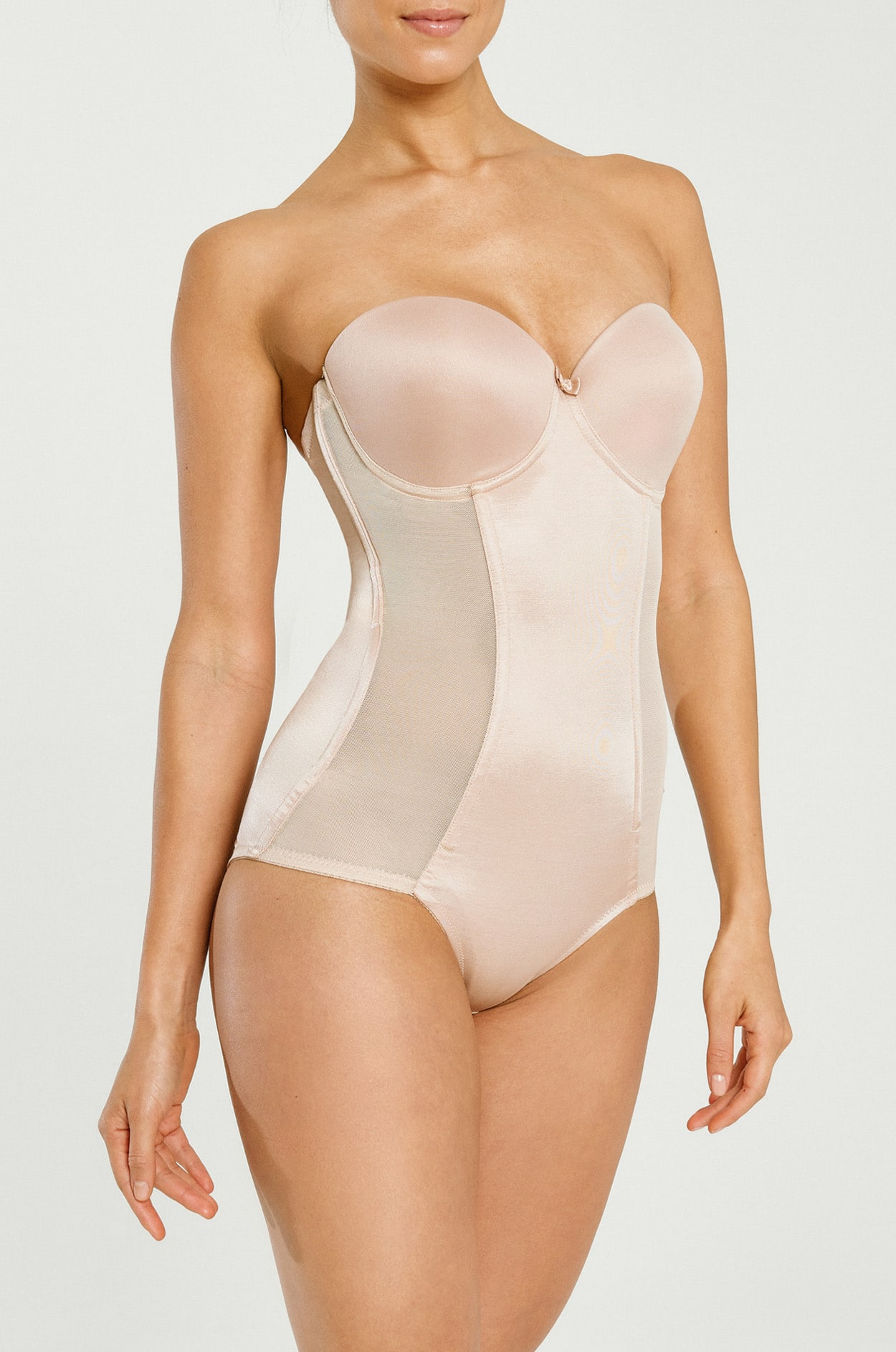 470302c5ca4 Home   Shop by Style   Shapewear   Satin Panel Low Back Bodysuit
