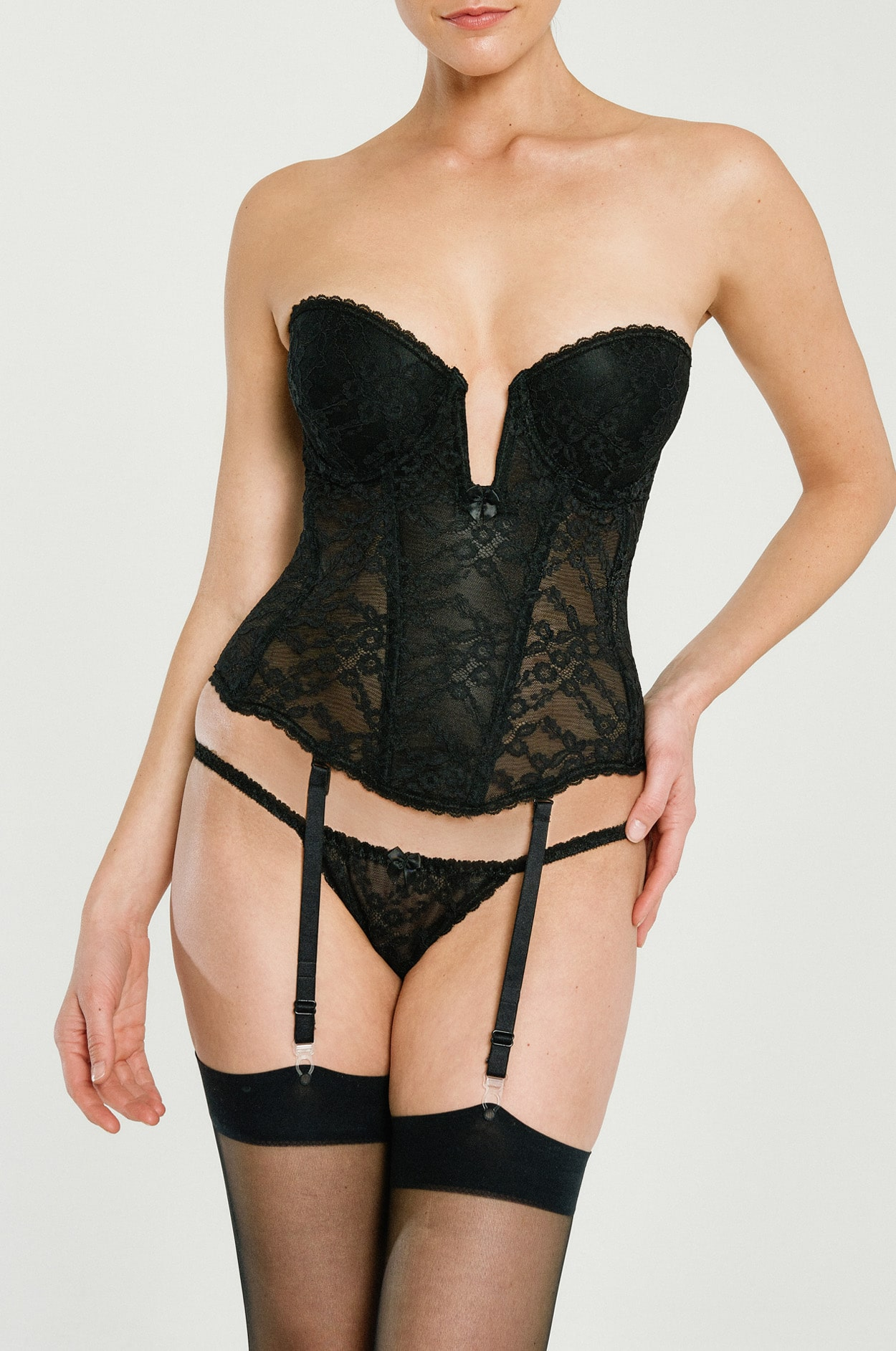 2cc60b6cd Plunge Bustier - Lace Shapewear, Best Push-up Waist Cinching Corset