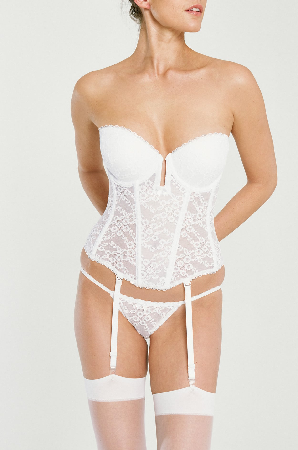 1824ce4d6c59c Plunge Bustier - Lace Shapewear, Best Push-up Waist Cinching Corset