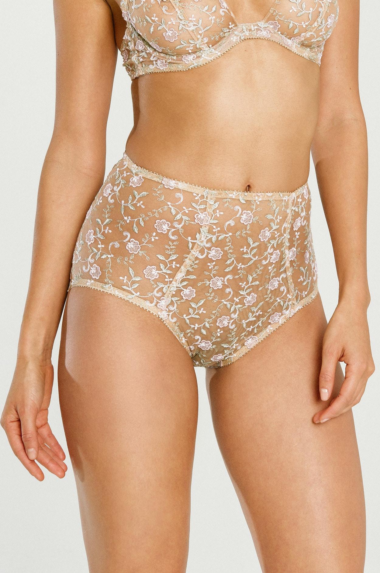 e0e4830fdf8 High Waisted Lace Panty, High Waist Underwear, Highwaisted Bottom