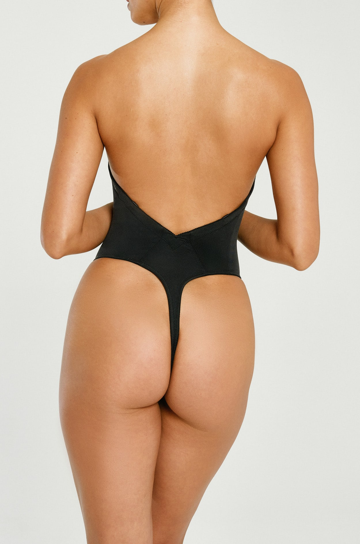 1e39e54a7e Backless Thong Bodysuit - What to Wear Under a Strapless Dress